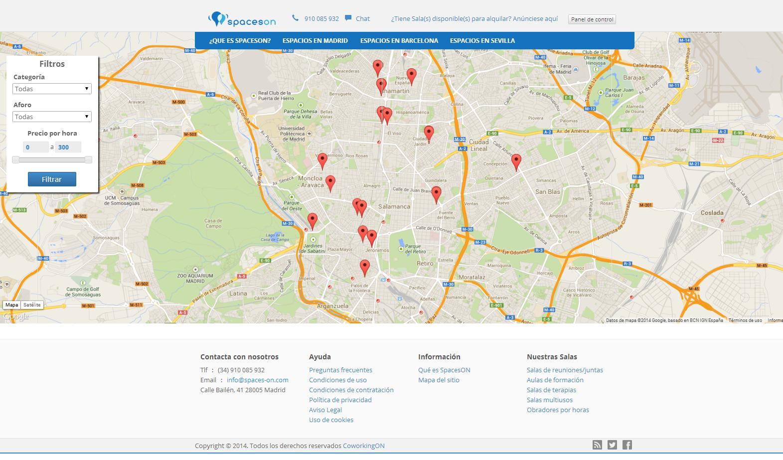 2014-07-14 11_55_39-Encuentra y Reserva los mejores Espacios en Madrid - SpacesON