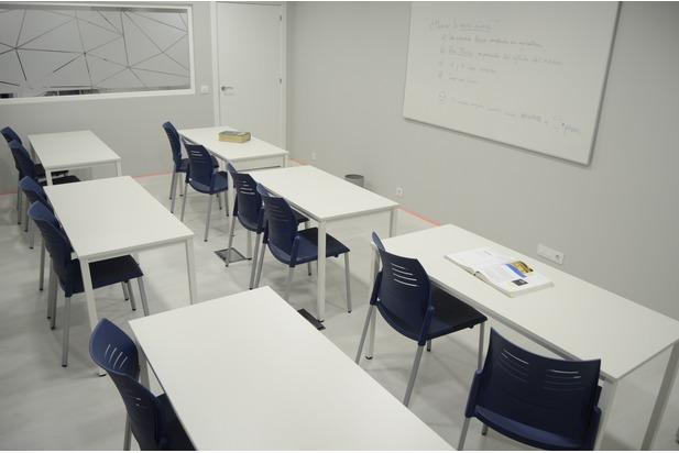 Aula de formación en Madrid