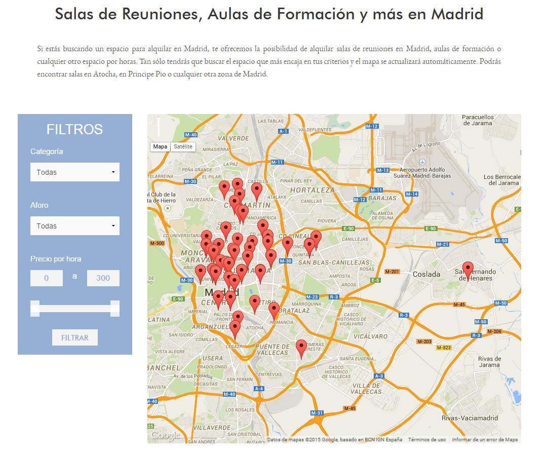 Espacios por Horas en Madrid
