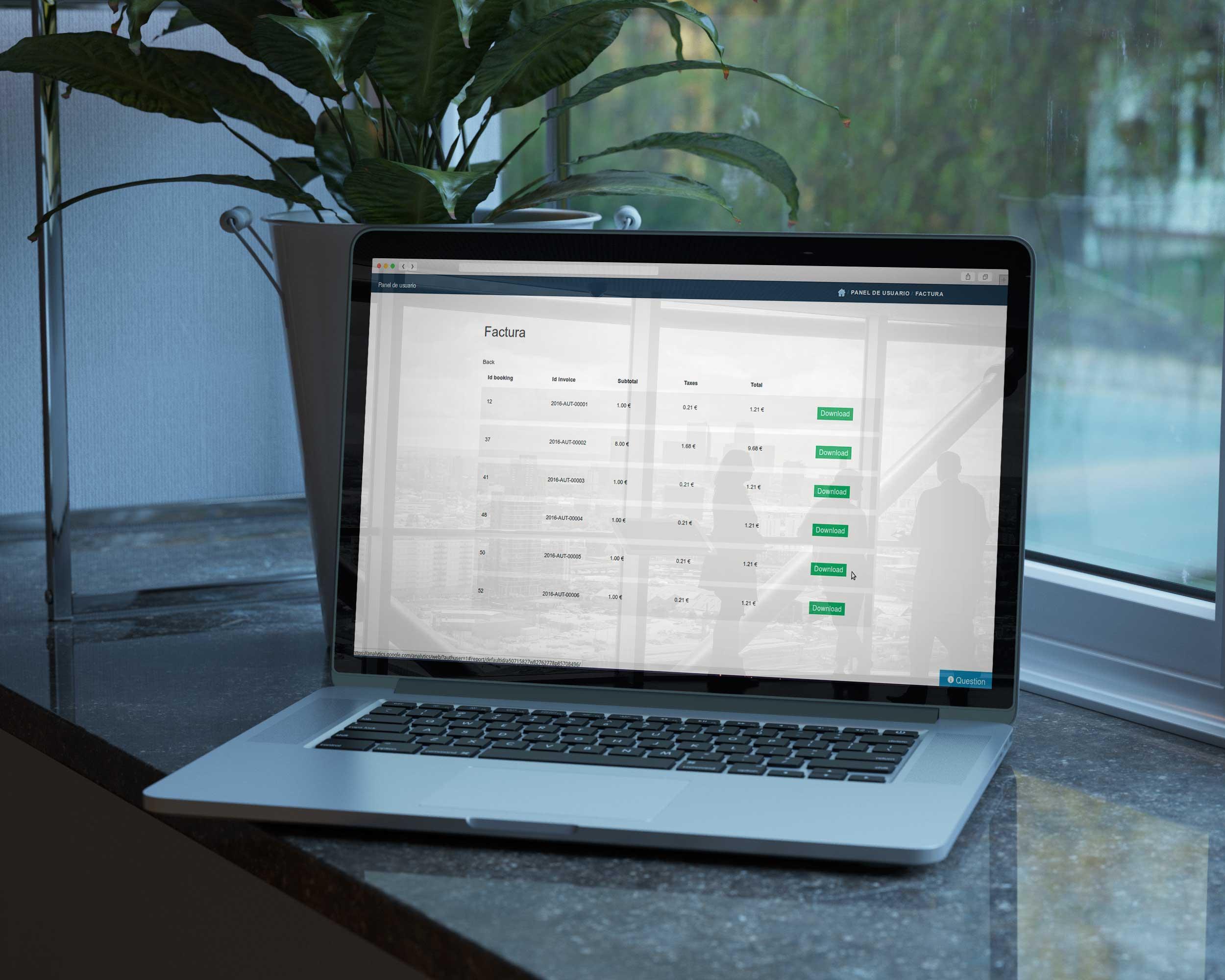 Gestión de facturas online