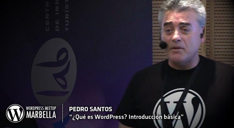 Pedro Santos, curso de Wordpress